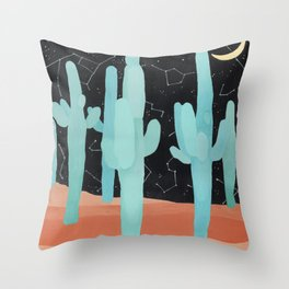 Coyote Dreams Throw Pillow