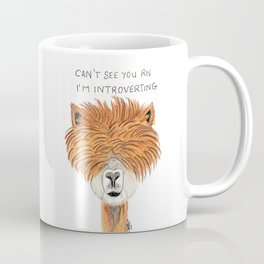 Introvert llama Coffee Mug