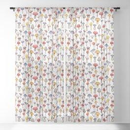 Cute Mushroom Pattern Sheer Curtain