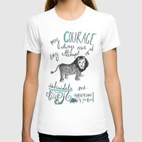 jane austen T-shirts featuring COURAGE: PRIDE AND PREJUDICE by JANE AUSTEN by Rosianna