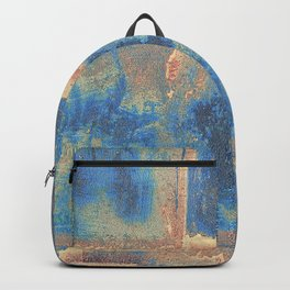 Rusted Metal Plates Abstract Backpack