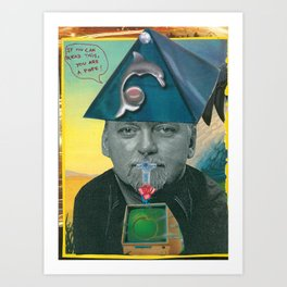 RAW Pope (Robert Anton Wilson) Art Print