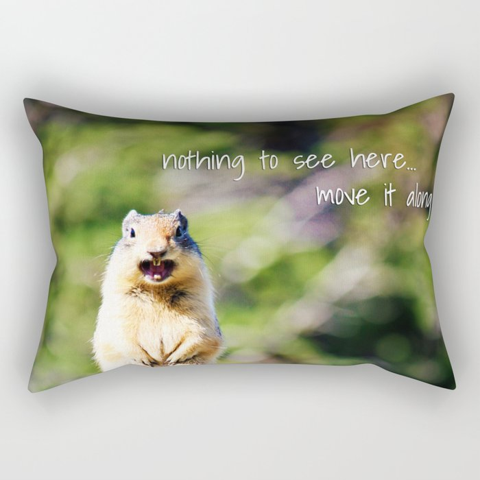 Angry Squirrel Has A Friend Rectangular Pillow