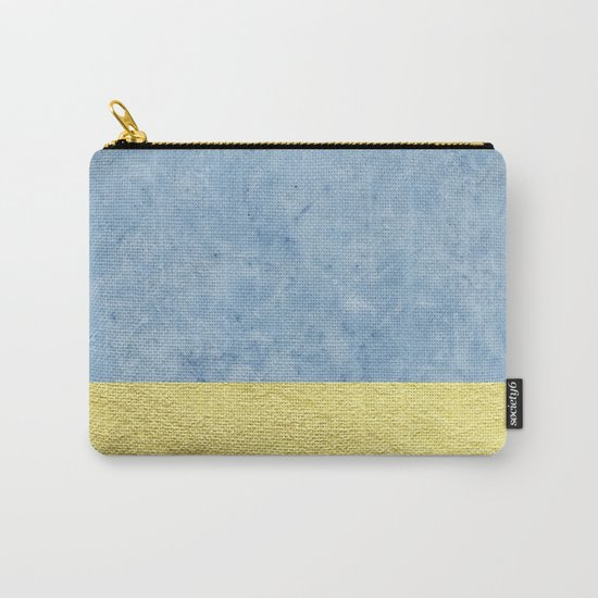 Royal blue and gold marble Carry-All Pouch