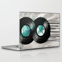 vinyl Laptop & iPad Skins featuring infinite vinyl by Vin Zzep