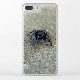 Jumping Spider Clear iPhone Case