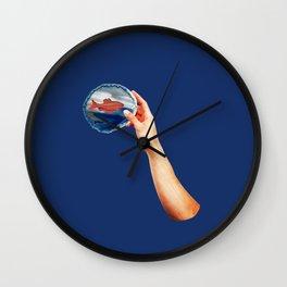 Selfish - Collage Wall Clock
