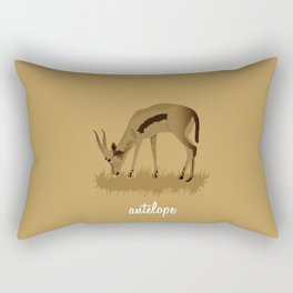 4-legged Exotica Series: Antelope Rectangular Pillow