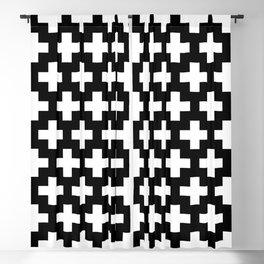 Swiss Cross W&B Blackout Curtain