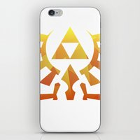 triforce iPhone & iPod Skins featuring Triforce by Wicttor