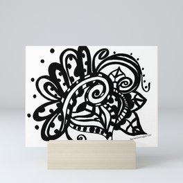 Happy Swirl Doodle Mini Art Print