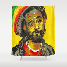 Jr Gong Zilla Shower Curtain