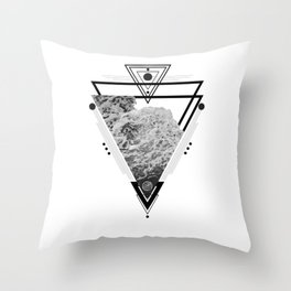 Wiccan Water Element Symbol Pagan Witchcraft Triangle Throw Pillow