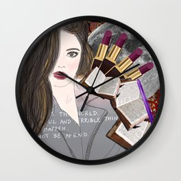 Intelligence and Beauty  Wall Clock