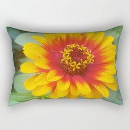 Zinnia on fire Rectangular Pillow
