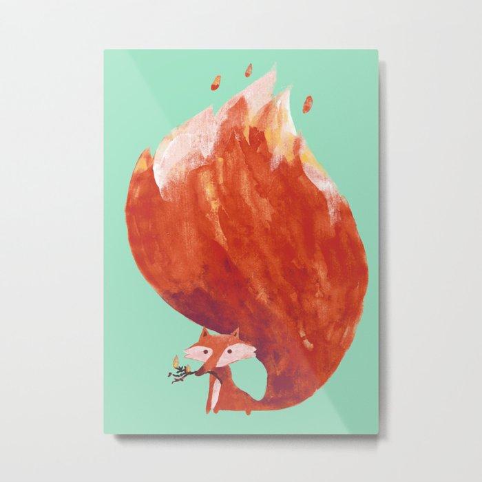 Kitsune (Fox of fire) Metal Print
