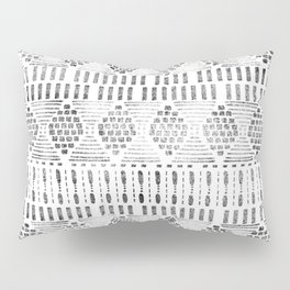 Aztec I Pattern Black and White Pillow Sham