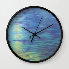 Mountain Lake Water Art Wall Clock