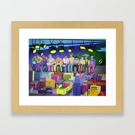 Lunch Atop a Skyscraper Framed Art Print