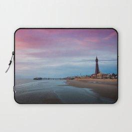 Photo England towers Blackpool, Lancashire beaches Pier Cities Tower Beach Berth Marinas Laptop Sleeve