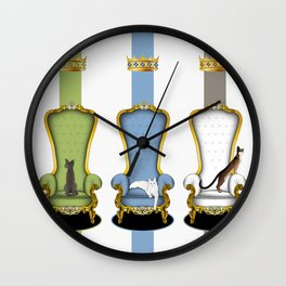 Cats on Thrones (2) Wall Clock