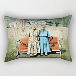 Two Cool Kitties: What's for Lunch? Rectangular Pillow