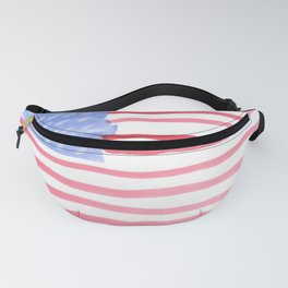 American Flag 4th of July watercolor design Fanny Pack