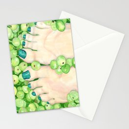 Green Grapes and Pedicure Stationery Cards