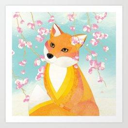 Shanti Sparrow: Charlie and the Cherry Blossom Art Print