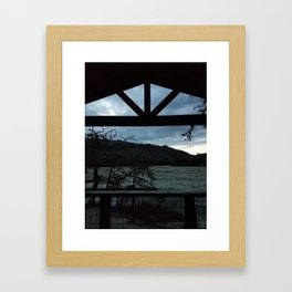 Cabin in Texas Hill Country Framed Art Print
