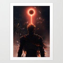 Soul of Cinder Dark souls Art Print