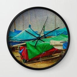 Green Among Blue Wall Clock