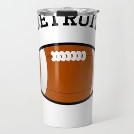 Detroit American Football Design black lettering Travel Mug