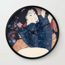 Ukiyo-e Japanese Print Wall Clock