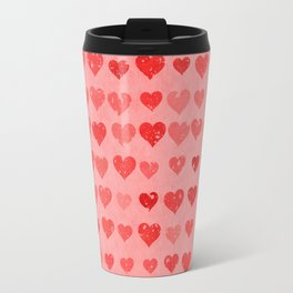 Pink Valentines Love Hearts Travel Mug