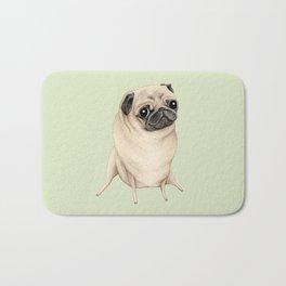 Sweet Fawn Pug Bath Mat