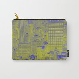 New York Buildings - Green Carry-All Pouch