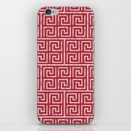 Oriental Symbol (Red & Silver) iPhone Skin