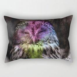 Abstract colorful owl Rectangular Pillow