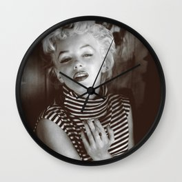 Monroe Black and White Portrait Wall Clock