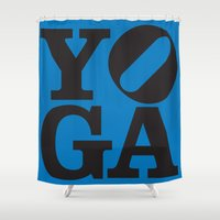 yoga Shower Curtains featuring YoGA by CGould