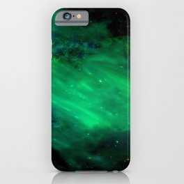 green space all universe cosmos galaxy iPhone Case