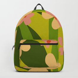 Modern Floral Spring Pattern Backpack