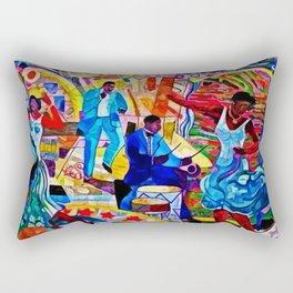 African-American 'The Spirit of Harlem' Historical Mural Portrait Rectangular Pillow