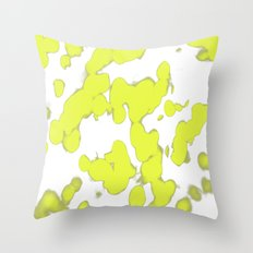 Floating Yellow Throw Pillow