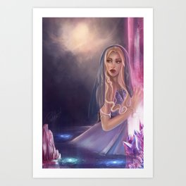 The lament of the stars Art Print