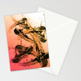 Calm and Fiery Abstraction Stationery Cards