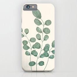 Watercolor Eucalyptus iPhone Case