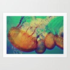 aquatic waveform Art Print