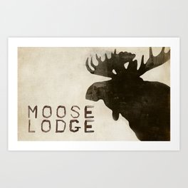 The Moose Mat Art Print